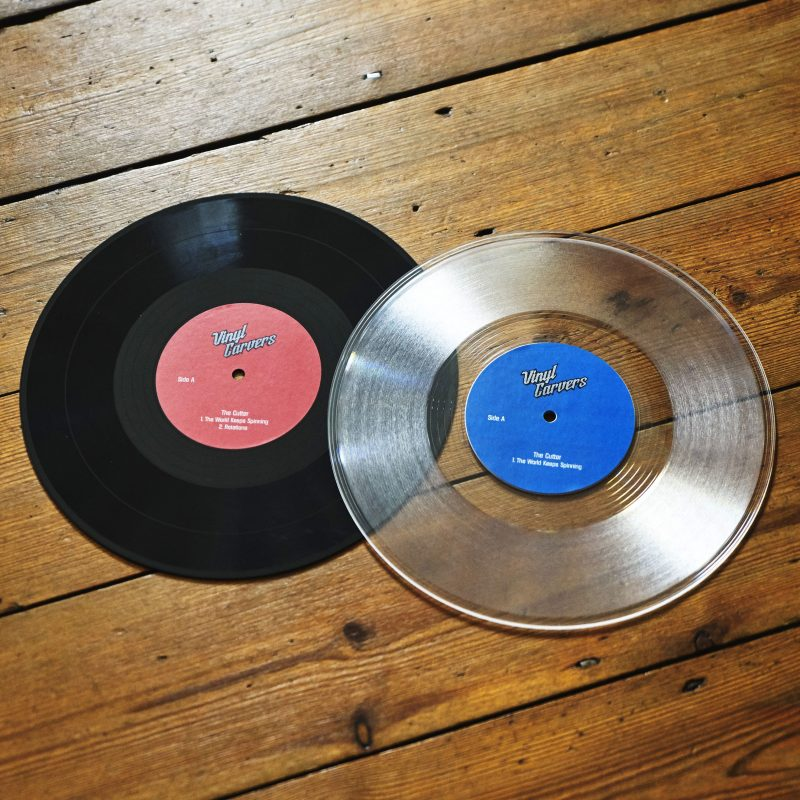 "10"" black or clear vinyl"