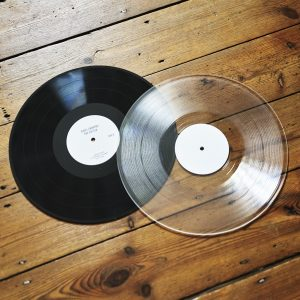 black or clear vinyl