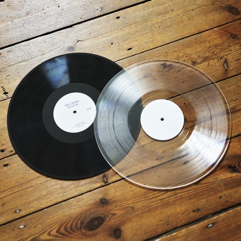 black or clear vinyl