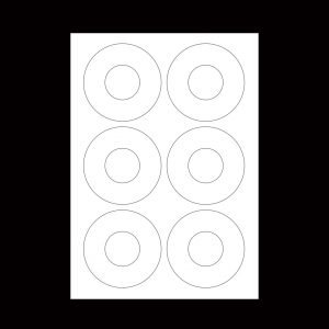 "7"" label sheets with large hole"